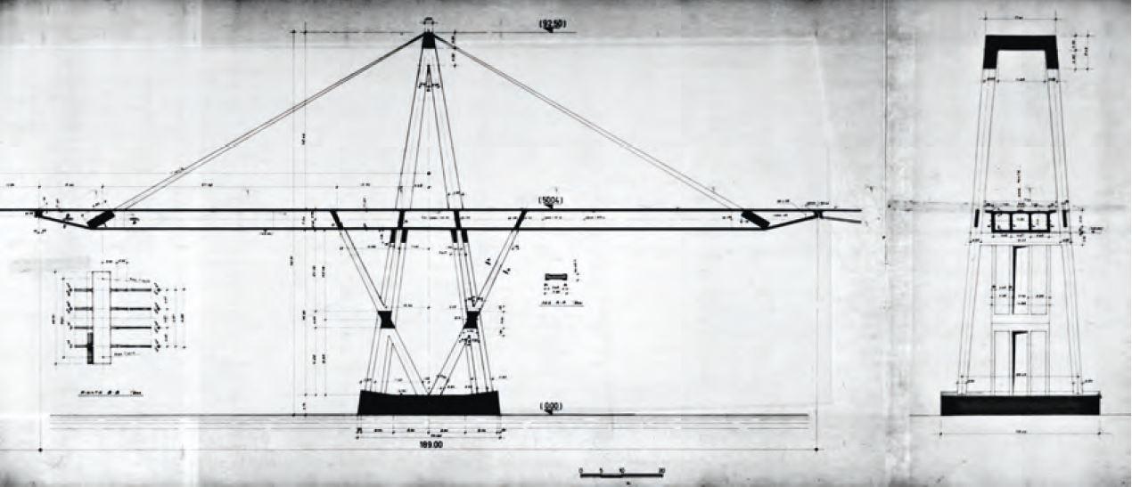Disegno tecnico di Riccardo Morandi