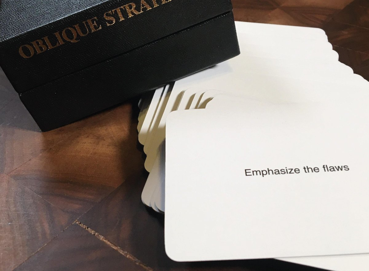 oblique strategies cards